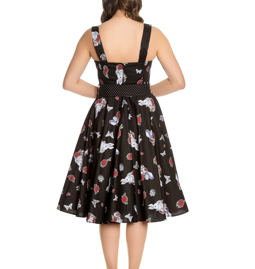 Hell Drink Dress In Bunny Me Wonderland 50s All Alice Pinup Sizes Roses 0nqHxrU0
