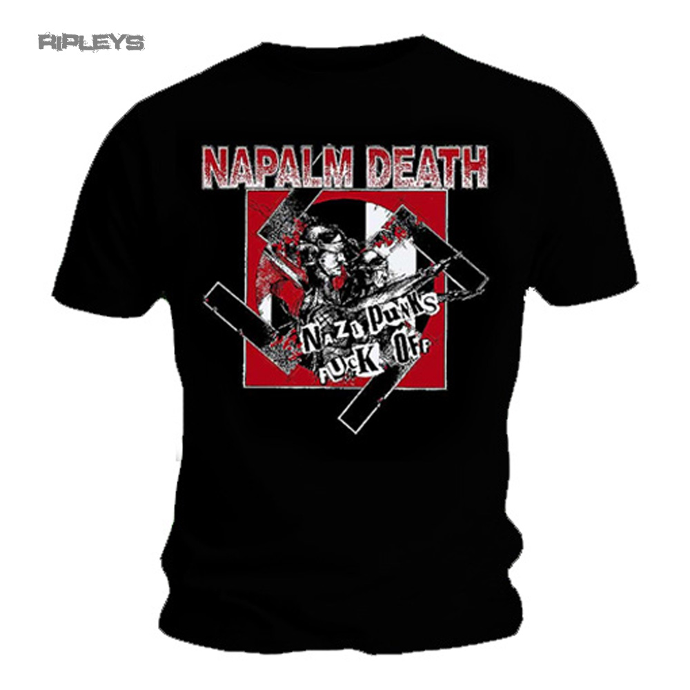 Official-T-Shirt-NAPALM-DEATH-Black-Death-Metal-NAZI-Punks-All-Sizes thumbnail 18