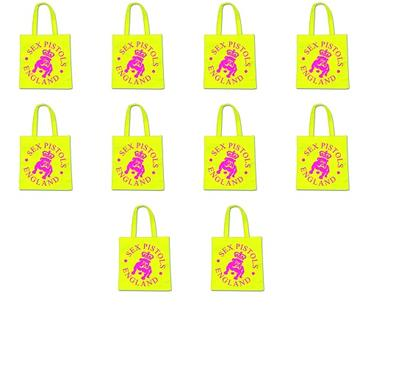 20 Wholesale Job Lot 20 OFFICIAL BAND Punk Pistols ECO Tote Shopping Bags