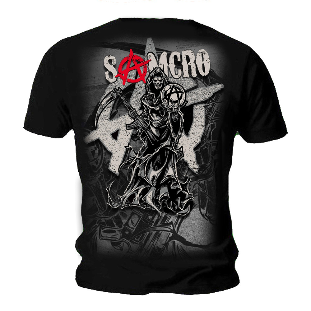 spiral sons of anarchy unisex t shirt reaper montage crew samcro all sizes ebay. Black Bedroom Furniture Sets. Home Design Ideas