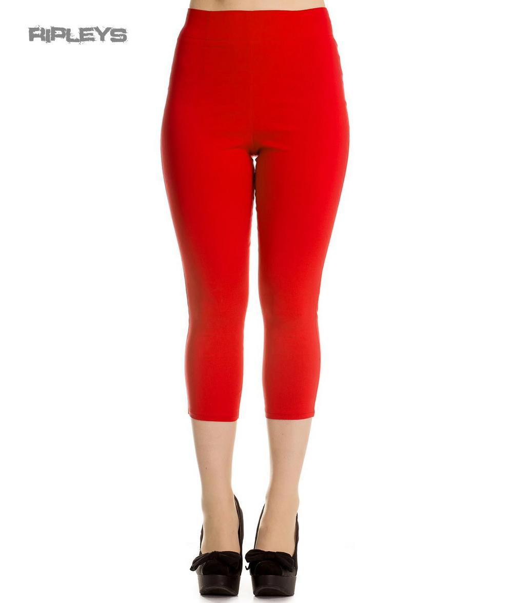Hell Bunny 50s Rockabilly Pedal Pushers TINA Capris Capri Trousers Red All  Sizes 29e4d5181