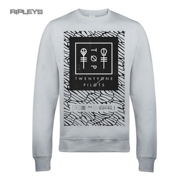 Official Twenty one Pilots Sweat Shirt SCALE Pattern Marl Grey All Sizes Preview