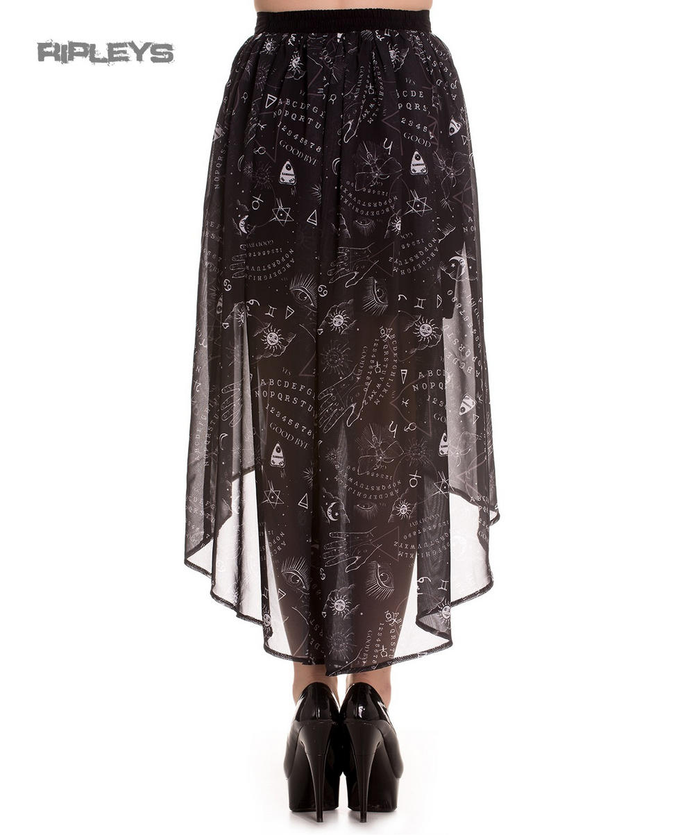fa720e382cf Hell Bunny Spin Doctor Goth Black Witch Ouija SPIRIT Maxi Skirt All Sizes