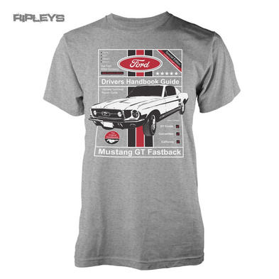 Official T Shirt FORD Car Grey 'Drivers Handbook Guide' Mustang All Sizes Preview