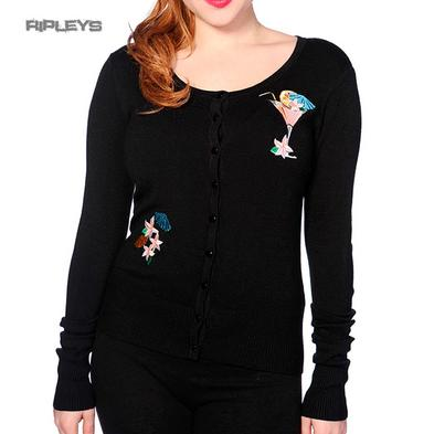 BANNED Black 50s Rockabilly Pin Up Retro COCKTAIL Cardigan Top All Sizes