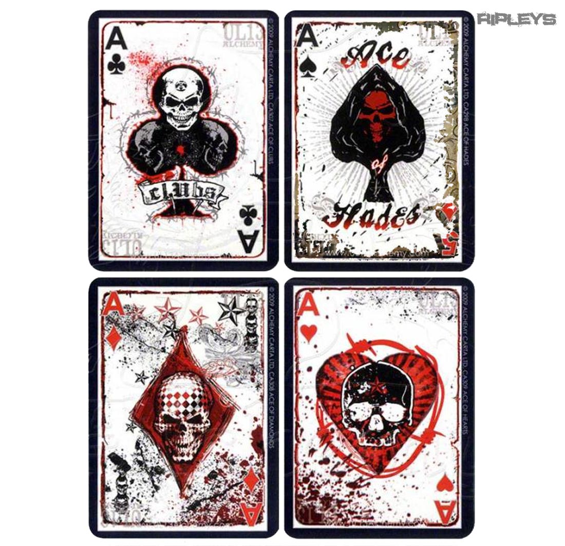 Official Alchemy England Poker Playing Cards Ul13 Tattoo Skulls Goth