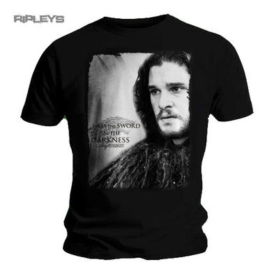 Official T Shirt Game of Thrones Jon Snow 'Sword in the Darkness' Photo All Size