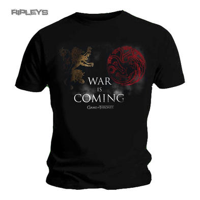 Official T Shirt Game of Thrones Lannister Targaryen 'WAR Is Coming' All Sizes