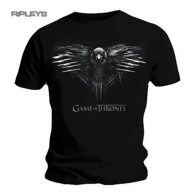 Official T Shirt Game of Thrones Black Crow 3 EYED RAVEN Logo All Sizes