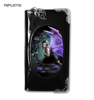 ANNE STOKES 3D Purse Wallet Black PVC Gothic Purple Fairy 'Naiad'