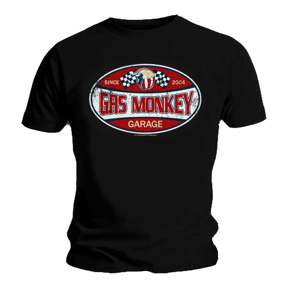 Official T Shirt Gas Monkey Garage Dallas Texas SINCE 2004