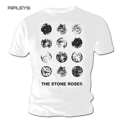 Official T Shirt The Stone Roses White Lemon GRID Vintage All Sizes
