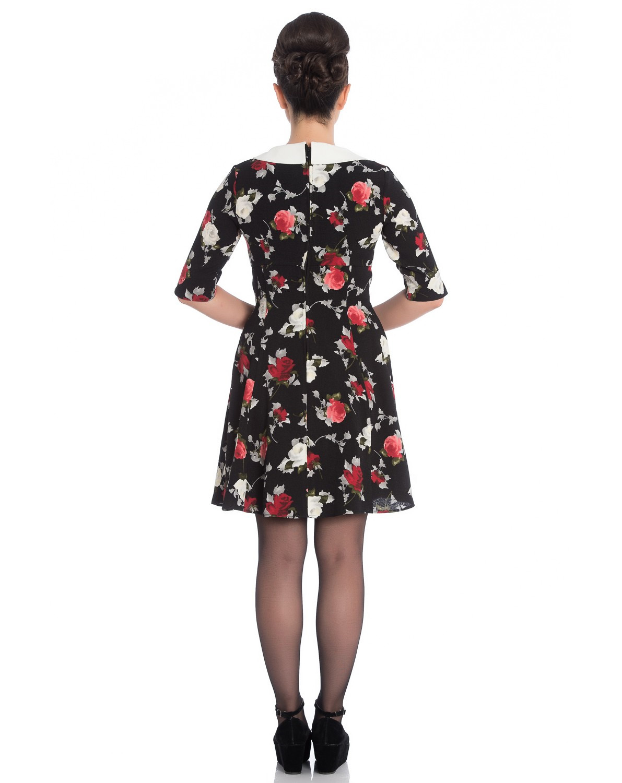 Hell-Bunny-Black-50s-Mini-Skater-Dress-SELMA-Floral-Flowers-Roses-All-Sizes thumbnail 21