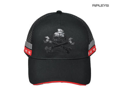 Official EXILE Biker Motorcycle Baseball Cap Hat Logo Black/Grey 'Menace Skull'
