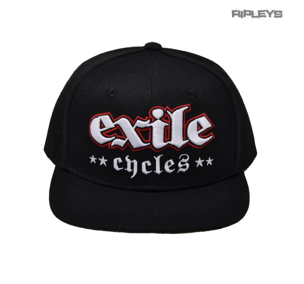 Official EXILE Biker Motorcycle Baseball Cap Hat Logo Black Snapback  Two  Finger 0844bbc779a