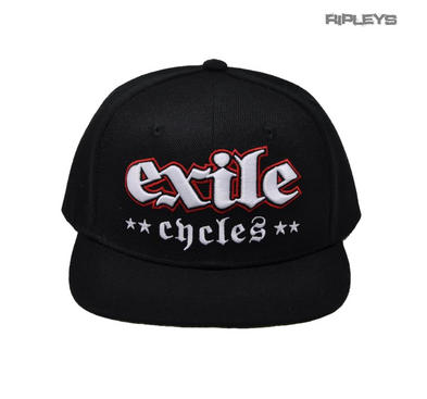 Official EXILE Biker Motorcycle Baseball Cap Hat Logo Black Snapback 'Two Finger