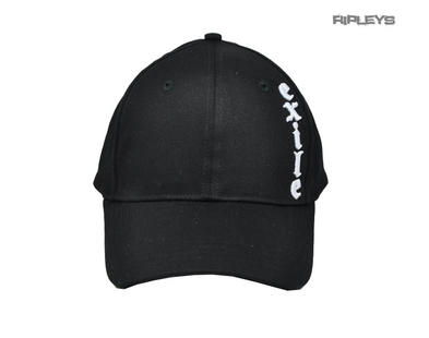 Official EXILE Biker Motorcycle Baseball Cap Hat Logo Black 'Skull n Wrench' Preview