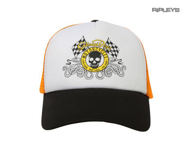Official SALINAS BOYS Biker Motorcycle Baseball Cap Hat Logo Orange 'Skull'