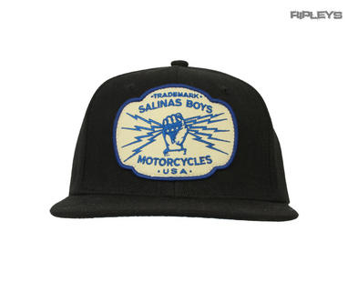 Official SALINAS BOYS Biker Motorcycle Baseball Cap Hat Logo Black 'Trademark'