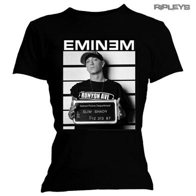Official Ladies T Shirt  EMINEM Slim Shady Arrest Photo Tee All Sizes Preview