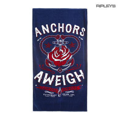 Sourpuss Alternative Rockabilly Swimming Beach ANCHORS Aweigh Towel Gift