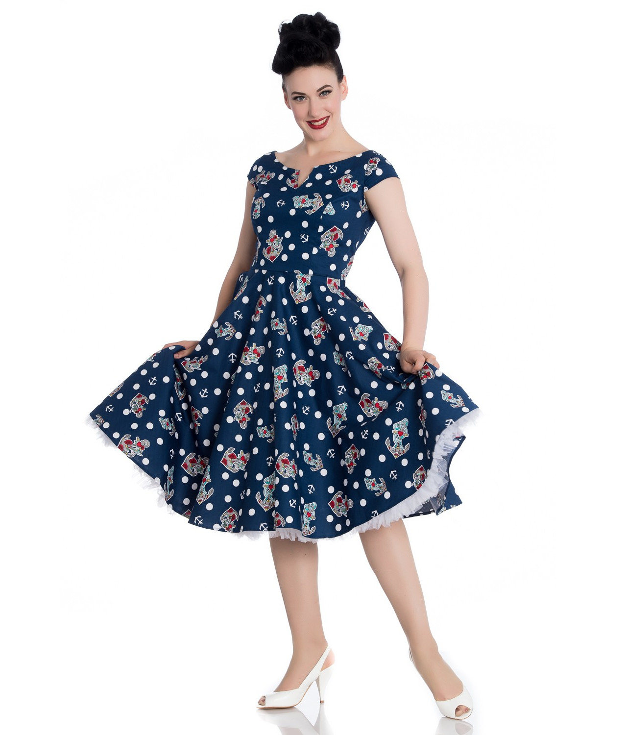 Sentinel Hell Bunny 50s Nautical Blue Dress SALINA Oceana Pin Up Rockabilly  All Sizes 3bdefc77b7b