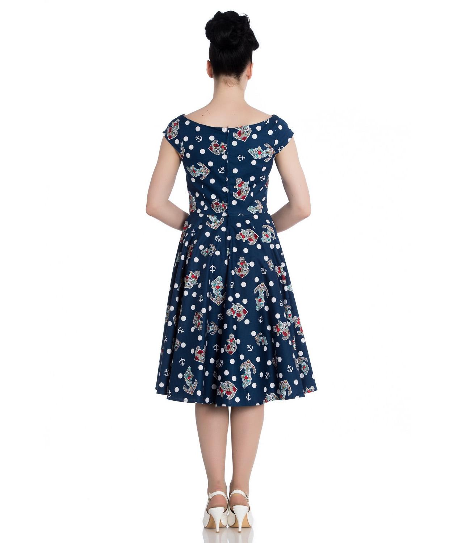 Hell-Bunny-50s-Nautical-Blue-Dress-SALINA-Oceana-Pin-Up-Rockabilly-All-Sizes thumbnail 7