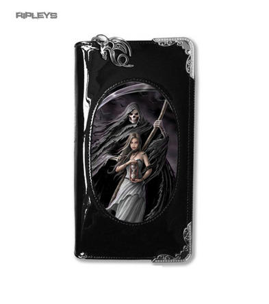 ANNE STOKES 3D Purse Wallet Black PVC Gothic Reaper Skeleton 'Summon'