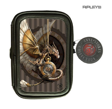 ANNE STOKES 3D Lenticular Gothic Black Pencil Case Steampunk Dragon 'Clockwork'