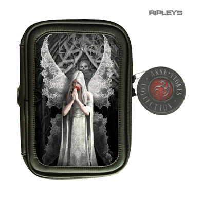 ANNE STOKES 3D Lenticular Gothic Black Pencil Case Fairy Angel 'Love Remains'