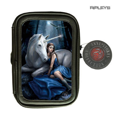 ANNE STOKES 3D Lenticular Gothic Black Pencil Case Fairy Unicorn 'Blue Moon'