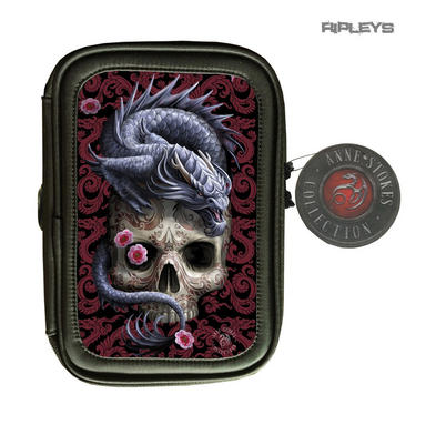 ANNE STOKES 3D Lenticular Gothic Black Pencil Case Skull 'Oriental Dragon'