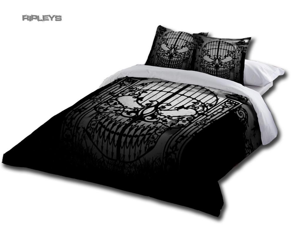 alchemy gothic black bedding duvet super king size uk pillowcases abandon hope. Black Bedroom Furniture Sets. Home Design Ideas