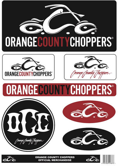 Official Orange County Choppers OCC A4 Set of STICKERS Biker Motorcycle
