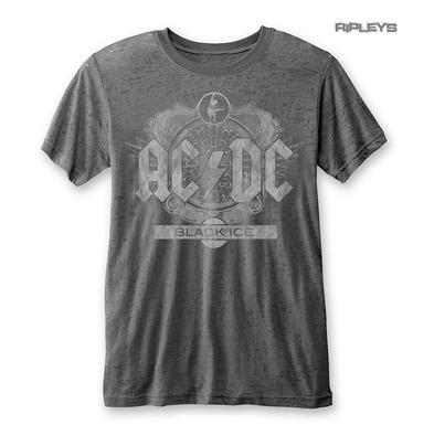 Official T Shirt ACDC AC/DC Classic BLACK ICE Distressed Logo  Burnout All Sizes