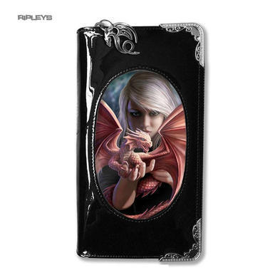 ANNE STOKES 3D Purse Wallet Black PVC Gothic Fairy 'Dragon Kin'