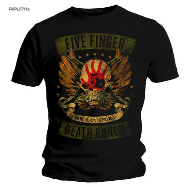 Official T Shirt Five Finger Death Punch Trouble 'Locked & Loaded' All Sizes