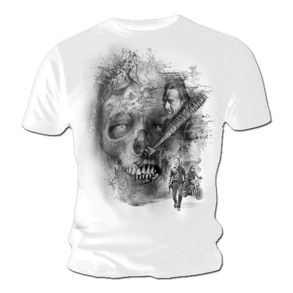 b93e99fc9 Sentinel Official T Shirt The Walking Dead Zombie White SKULL Negan All  Sizes