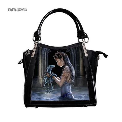 ANNE STOKES 3D Large Hand Bag Black PVC Goth Magic Fairy 'Water Dragon'
