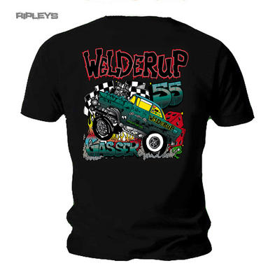 Official WELDERUP Garage Custom Hot Rod T Shirt Car 55 'Chevy Gasser' Rat Rod