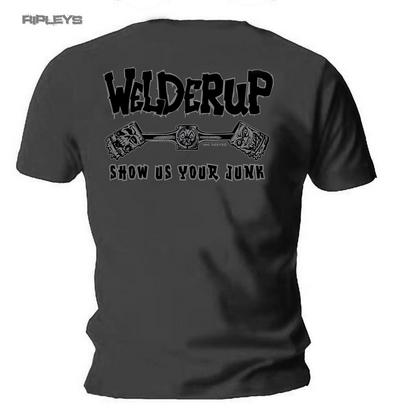 Official WELDERUP Garage Custom Hot Rod T Shirt Grey 'Classic Logo' Rat Rod