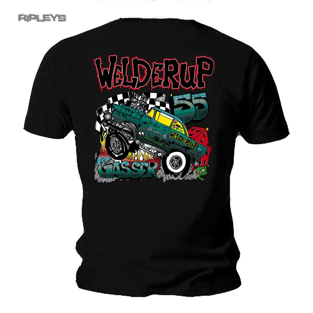 Official Welderup Garage Custom Hot Rod T Shirt Car 55