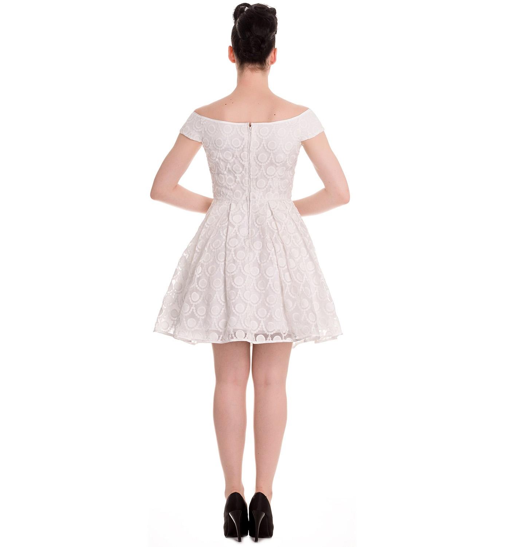 HELL-BUNNY-50s-Pin-up-Party-Mini-Dress-PARIS-Bardot-Ivory-White-All-Sizes thumbnail 5