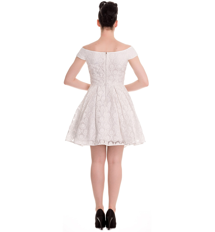 HELL-BUNNY-50s-Pin-up-Party-Mini-Dress-PARIS-Bardot-Ivory-White-All-Sizes thumbnail 17