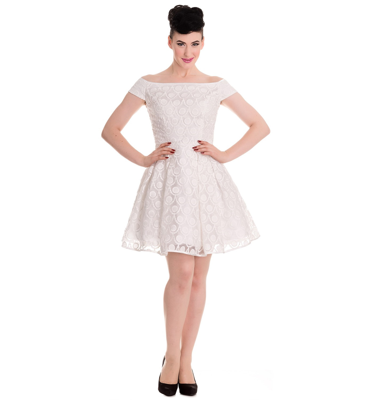 HELL-BUNNY-50s-Pin-up-Party-Mini-Dress-PARIS-Bardot-Ivory-White-All-Sizes thumbnail 15