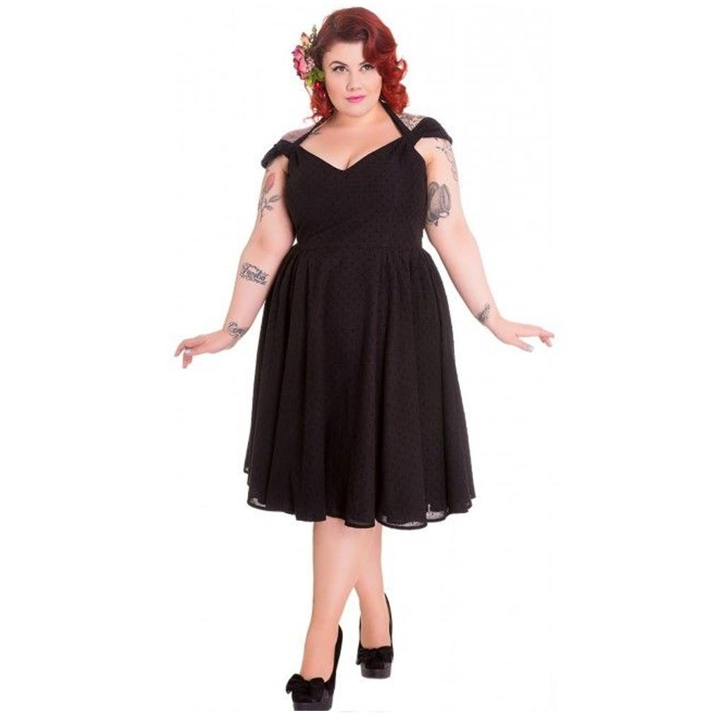 Hell-Bunny-Pin-Up-Summer-50s-Dress-Vintage-Rockabilly-EVELINE-Black-All-Sizes thumbnail 7