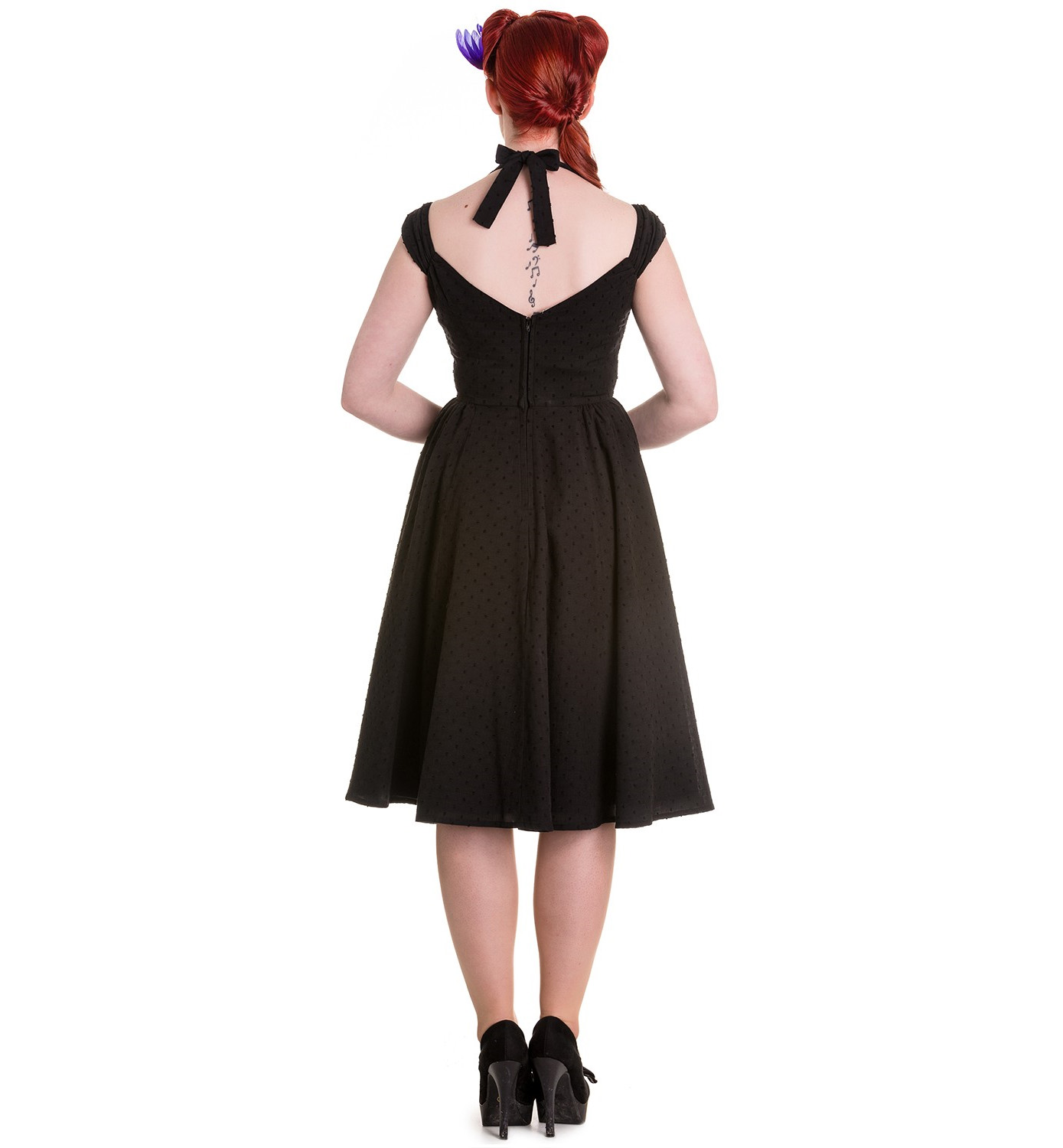 Hell-Bunny-Pin-Up-Summer-50s-Dress-Vintage-Rockabilly-EVELINE-Black-All-Sizes thumbnail 5