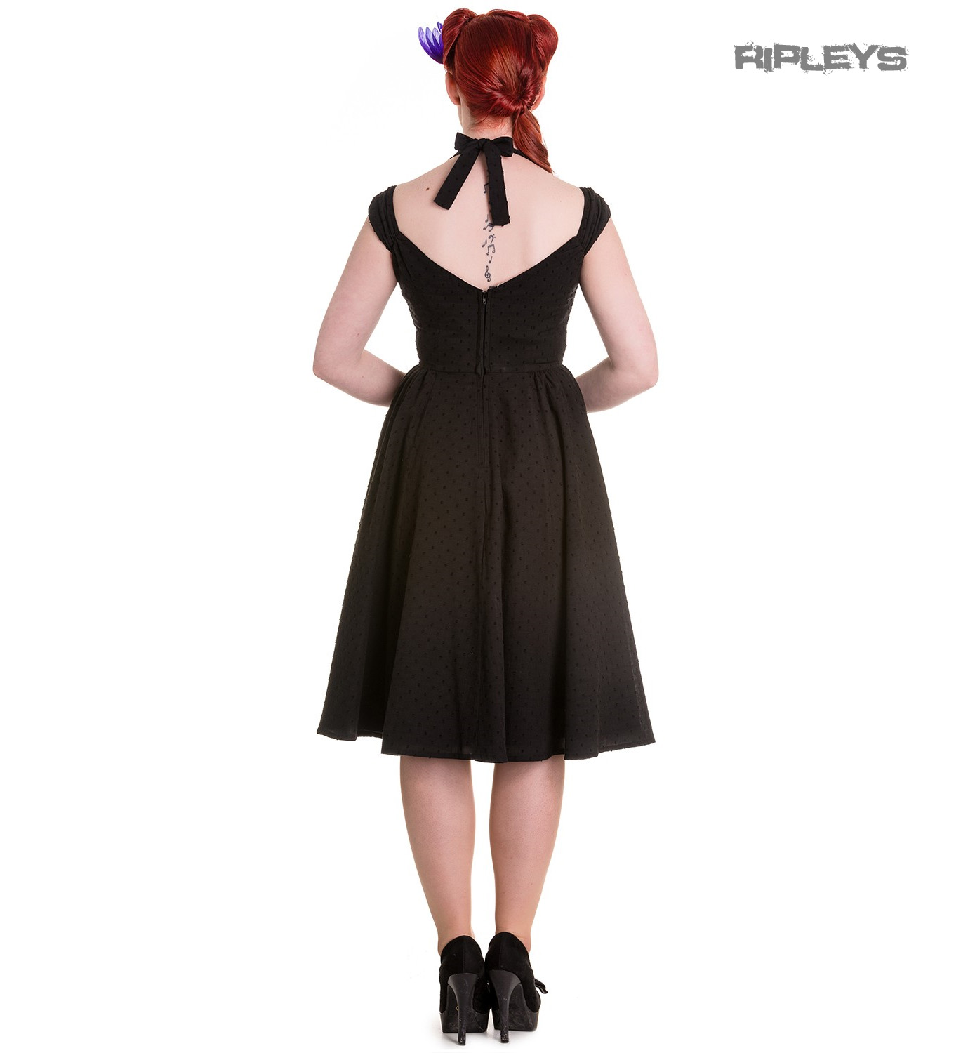 Hell-Bunny-Pin-Up-Summer-50s-Dress-Vintage-Rockabilly-EVELINE-Black-All-Sizes thumbnail 4