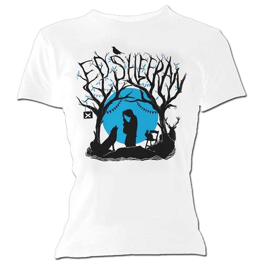 thumbnail 4 - Official Skinny T Shirt White ED SHEERAN Divide 'Woodland Gig' White All Sizes