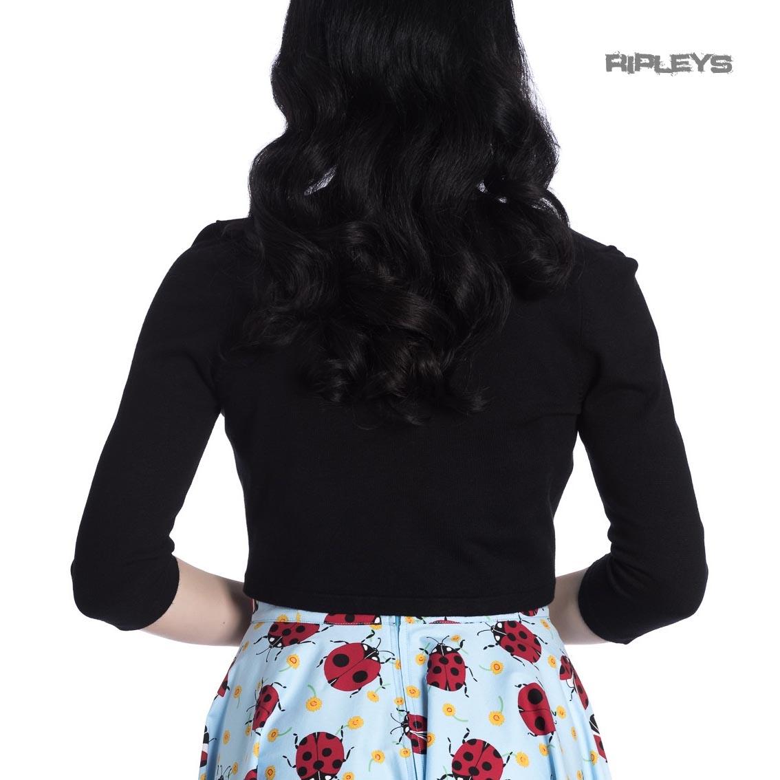 Hell Bunny Ladies 50s Plain Cardigan MAGGIE Bolero Top White Ivory All Sizes
